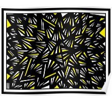 Canter Abstract Expression Yellow Black Poster