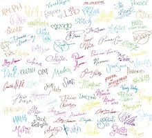 Disney Autographs by lunalalonde