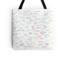 Disney Autographs Tote Bag