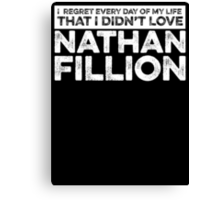 Regret Every Day - Nathan Fillion (Variant) Canvas Print