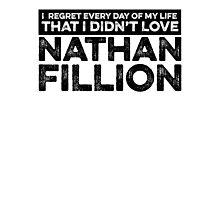Regret Every Day - Nathan Fillion Photographic Print