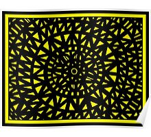 Vullo Abstract Expression Yellow Black Poster