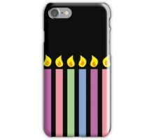 Birthday candles in different colours iPhone Case/Skin