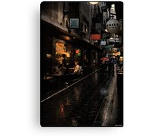 Morning Coffee in Melbourne Canvas Print