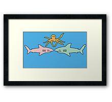 Love Sharks Framed Print