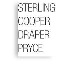 Sterling Cooper Draper Pryce Mad Men Canvas Print