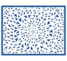 Weirauch Abstract Expression Blue White Photographic Print
