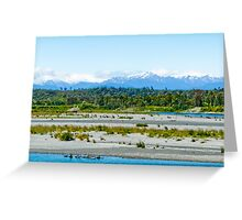 West Coast view towards Southern Alps (NZ) Greeting Card