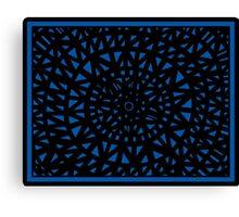 Sonderman Abstract Expression Blue Black Canvas Print