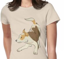Heeler pub dog chasing tail Womens Fitted T-Shirt