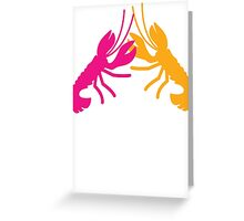 Lobster Crayfish food fight!  Greeting Card