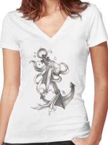 La Pieuvre Women's Fitted V-Neck T-Shirt