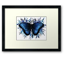 Blue Fire - Butterfly Splash Framed Print