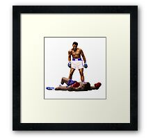 """Wake Up"" Muhammad Ali, VS Liston, Earth Fists Framed Print"