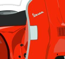 Cherry red Vespa Sticker