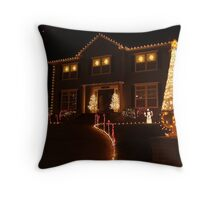 Medford Christmas light series Throw Pillow