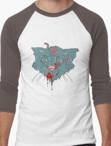 Zombie Frankenkitty Men's Baseball ¾ T-Shirt