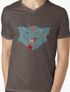 Zombie Frankenkitty Mens V-Neck T-Shirt
