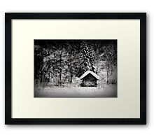 Another hut at the lake Framed Print