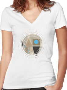 Geometric/A. 01 Women's Fitted V-Neck T-Shirt