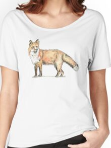 Fox watercolour and ink Women's Relaxed Fit T-Shirt