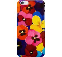 Blanket of Pansies iPhone Case/Skin