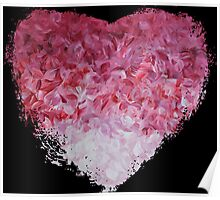 go back to the world - Abstract Heart Art - Pink Poster