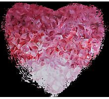 go back to the world - Abstract Heart Art - Pink Photographic Print