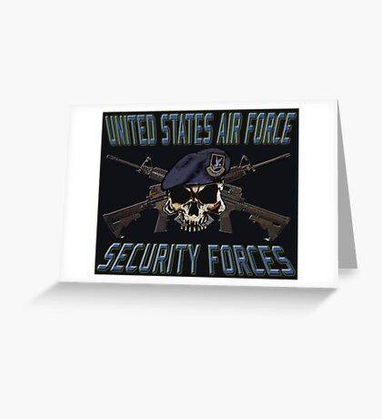 USAF Security Forces Greeting Card