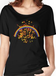 Rainbows and Maple Leaves Women's Relaxed Fit T-Shirt