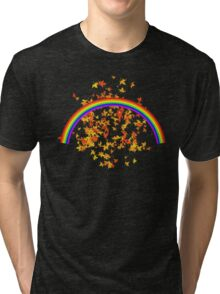 Rainbows and Maple Leaves Tri-blend T-Shirt