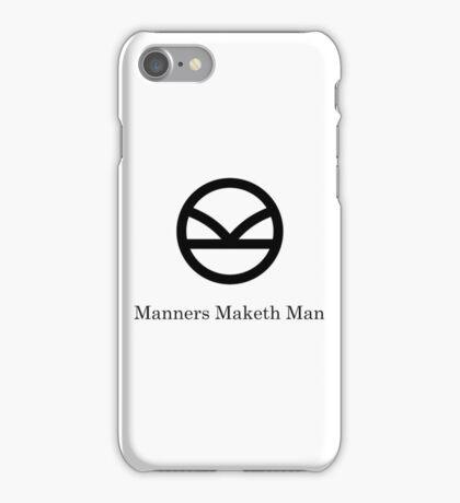 Kingsman Secret Service - Manners Maketh Man Black iPhone Case/Skin
