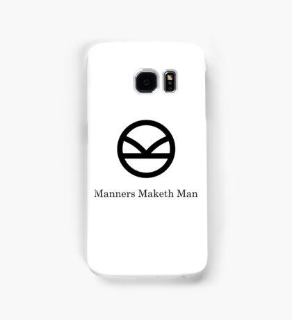 Kingsman Secret Service - Manners Maketh Man Black Samsung Galaxy Case/Skin