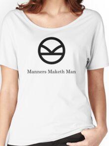 Kingsman Secret Service - Manners Maketh Man Black Women's Relaxed Fit T-Shirt