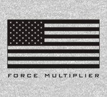 FORCE MULTIPLIER - AMERICAN FLAG (BLACK) One Piece - Short Sleeve