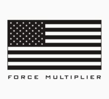 FORCE MULTIPLIER - AMERICAN FLAG (BLACK) Kids Clothes