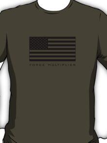 FORCE MULTIPLIER - AMERICAN FLAG (BLACK) T-Shirt