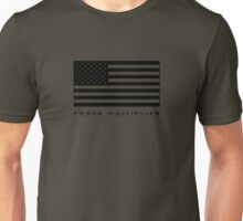 FORCE MULTIPLIER - AMERICAN FLAG (BLACK) Unisex T-Shirt