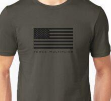 FORCE MULTIPLIER - AMERICAN FLAG (BLACK) Unisex T-Shirt