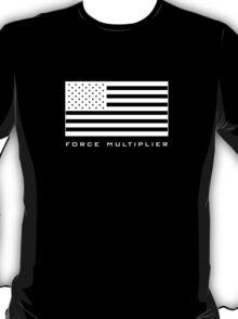 FORCE MULTIPLIER - AMERICAN FLAG (WHITE) T-Shirt