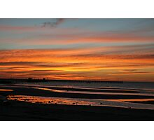 Sunset at Moonta Bay, S.A. Photographic Print