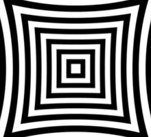 Curved Squares Op Art Sticker