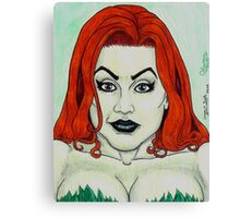 Queen of Cunning Chlorophyl Canvas Print