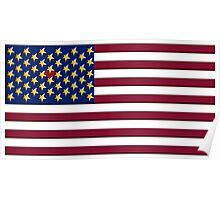 USA Pop Art Heart Flag, Hearts Between the Stars!! Poster