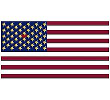 USA Pop Art Heart Flag, Hearts Between the Stars!! Photographic Print