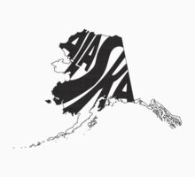 Alaska State Word Art Kids Clothes