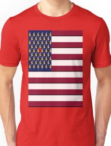 USA Pop Art Heart Flag, Hearts Between the Stars!! Unisex T-Shirt