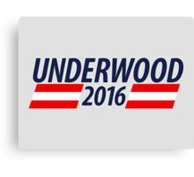 Underwood 2016 campaign sticker mug Canvas Print