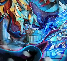 GIRATINA EMERGES! MEGA EVOLUTION GALLADE! by Iris-sempi