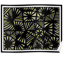 Oriordan Abstract Expression Yellow Black Poster